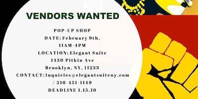 Elegant Suite Vendors Wanted for Pop Up Shop Date 2/9/19