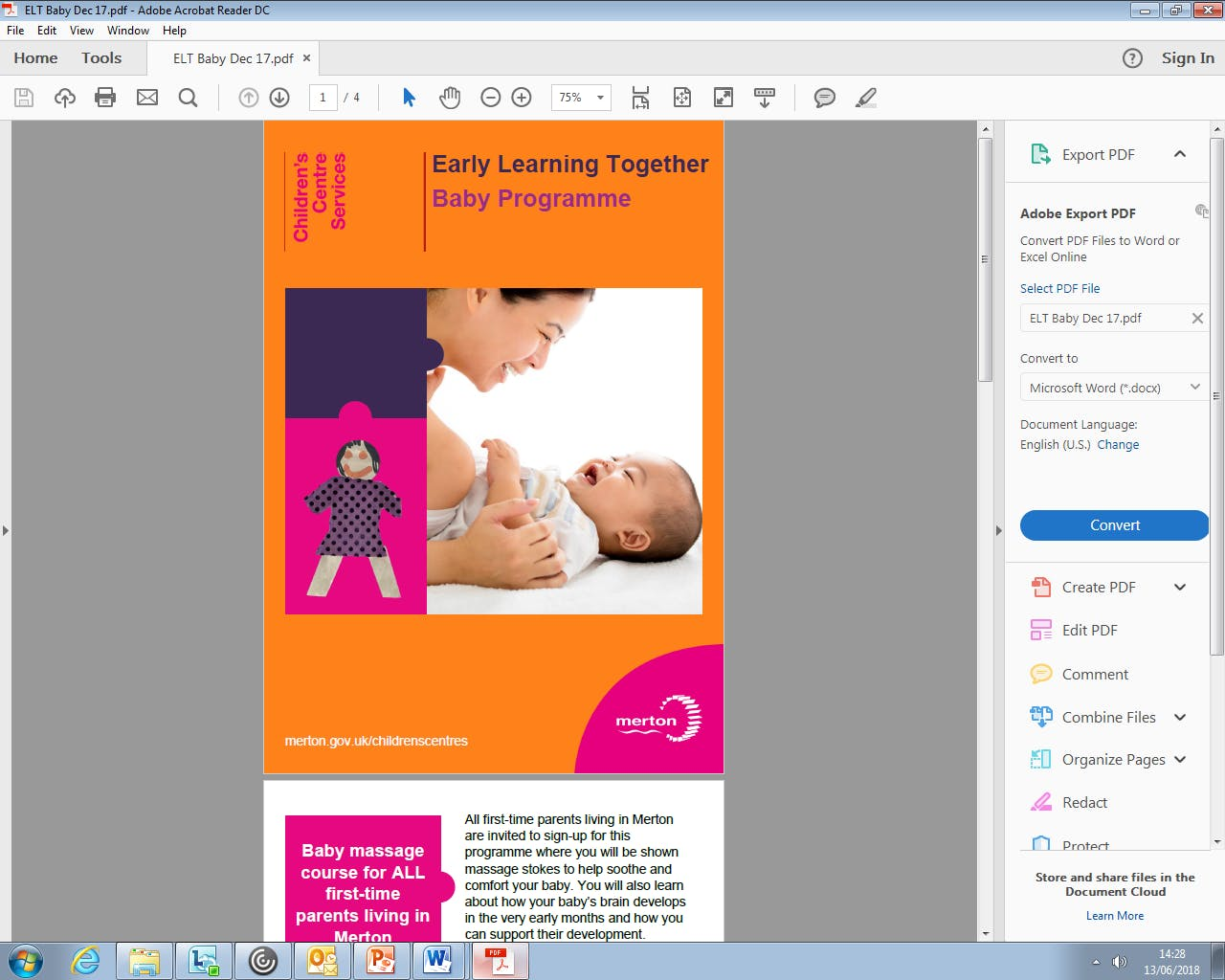 Early Learning Together (ELT) Baby Programme 0-7 months