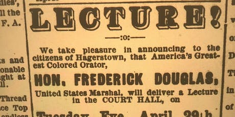 Walking Tour: Lost History of Frederick Douglass in Hagerstown tickets