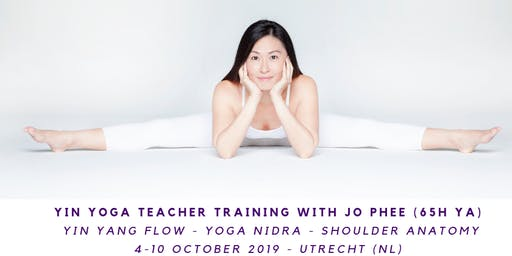Yin Yoga Teacher Training with Jo Phee (65h yA) Yang flow - Yoga nidra- Anatomy