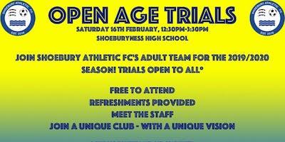 Shoebury Athletic Fc Open Age Trials
