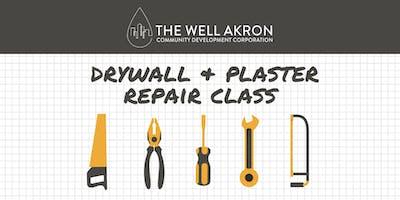 Wall Series: Drywall & Plaster Repair Class