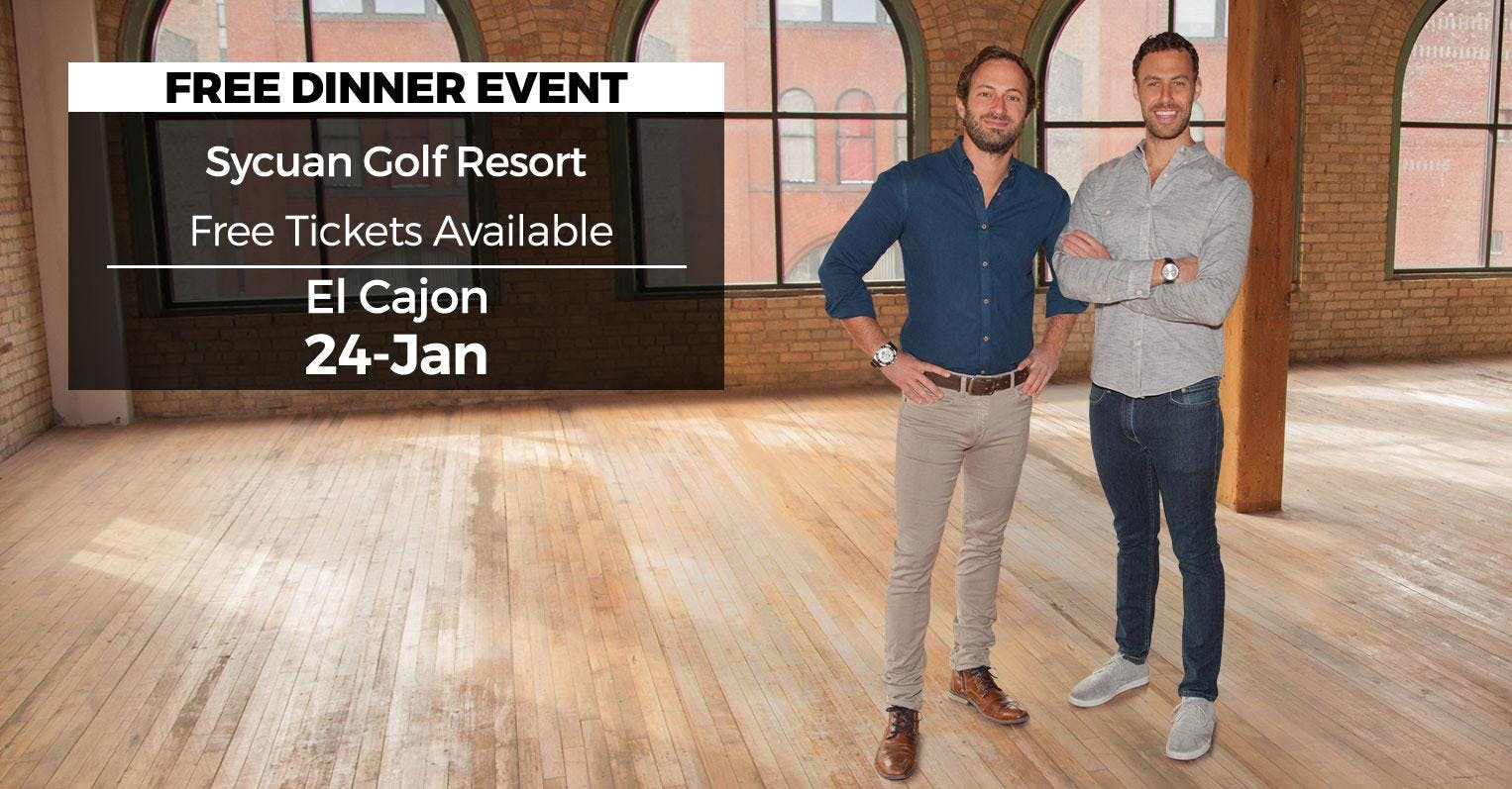 (Free) Millionaire Wealth Real Estate Event in El Cajon by HGTV's Drew and Danny