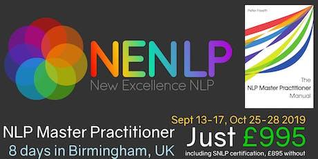NLP Business Master Practitioner 8 DAYS tickets
