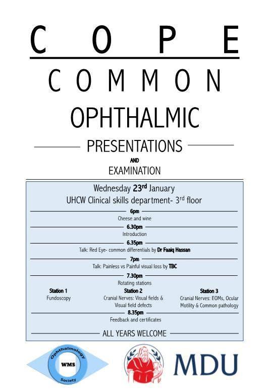 Common Ophthalmic Presentations & Examination