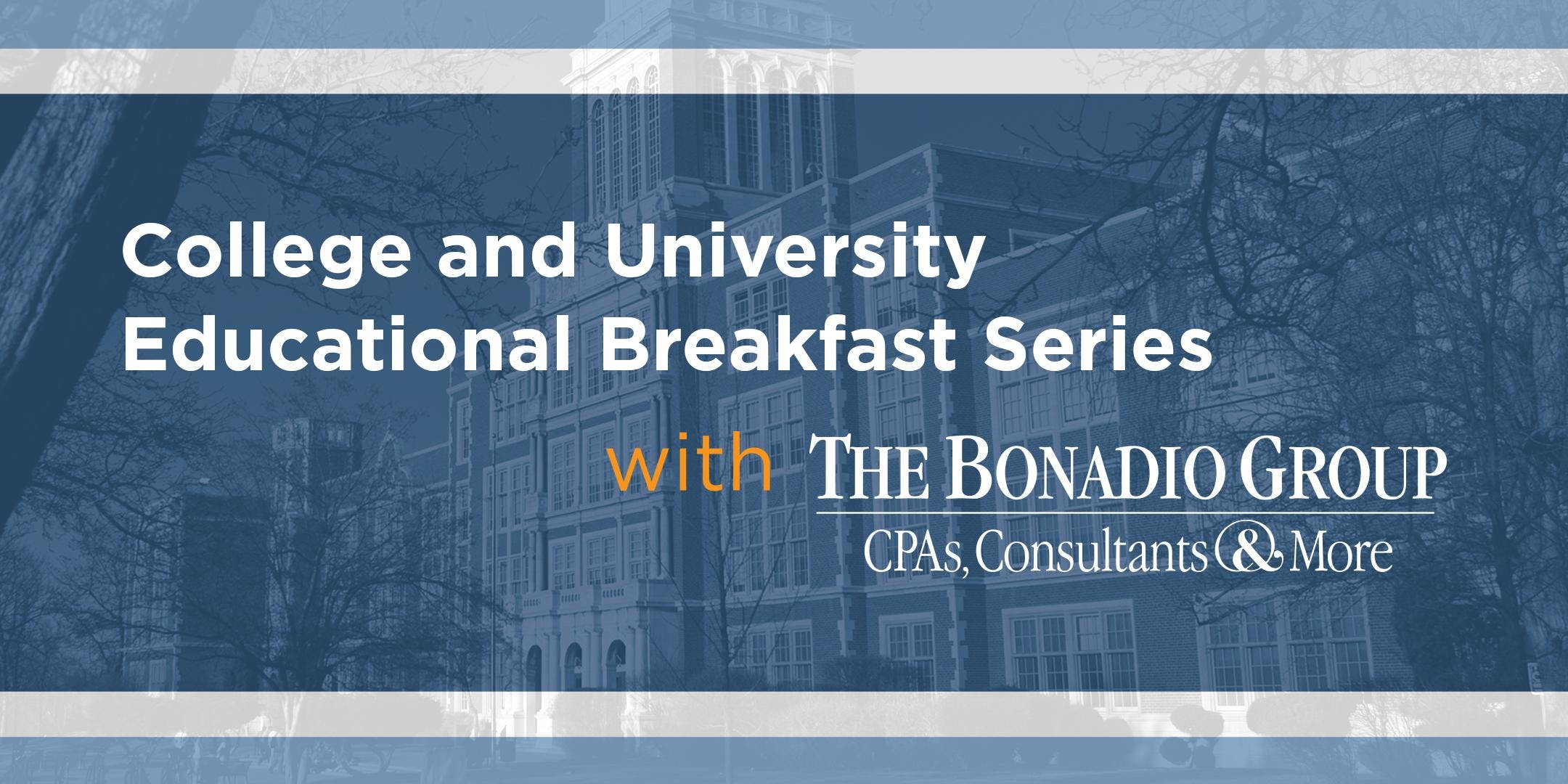College & University Winter Educational Breakfast Series in Buffalo - January 16, 2019