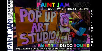 PAINT JAM DISCO - 10TH BIRTHDAY PARTY! Painting + Disco DJ