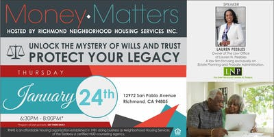 Money Matters Series- Unlock the Mystery of Wills and Trust