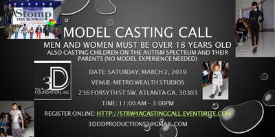 Stomp the Runway 4 Autism Atlanta Style Model Casting Call