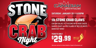 Stone Crab Night (Downtown Edmonton)