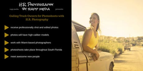 Use Your Truck for Professional Modeling Photoshoots tickets