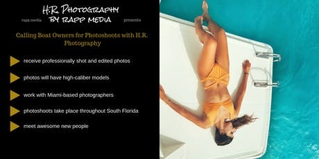 Use Your Boat in Professional Photoshoots tickets
