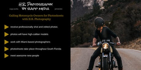Use Your Motorcycle/ATV for Professional Photoshoots tickets