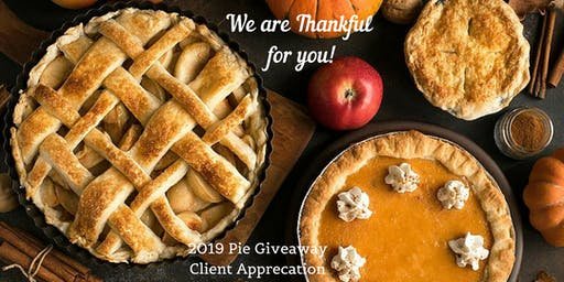 Annual Thanksgiving Pie Giveaway 2019 - SHG Client Appreciation