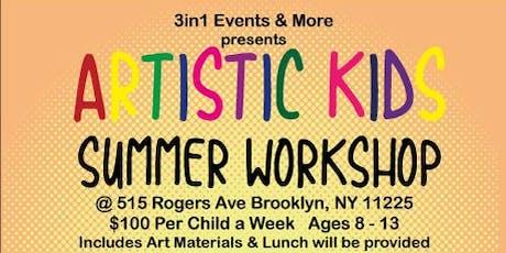 Artistic Kids Summer Workshop 2019 | Week 3 tickets
