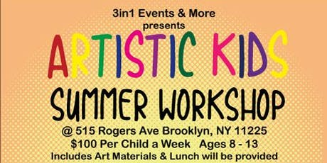Artistic Kids Summer Workshop 2019   Week 4 tickets