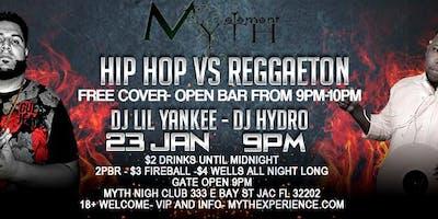 Hip-Hop Vs Reggaeton (Ladies Night) At Myth Nightclub, Wednesday 01.23.19