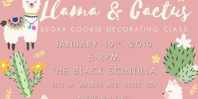 Llama & Cactus Cookie Decorating Class