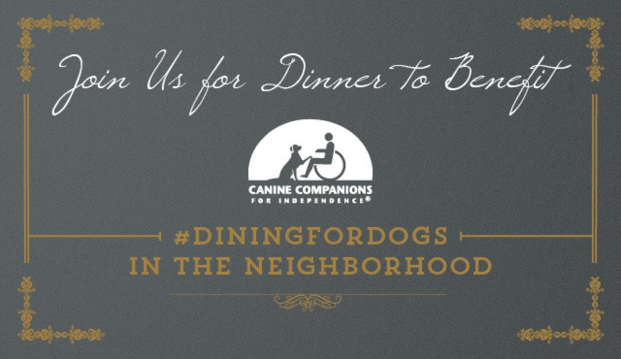 Dine for Dogs with Canine Companions