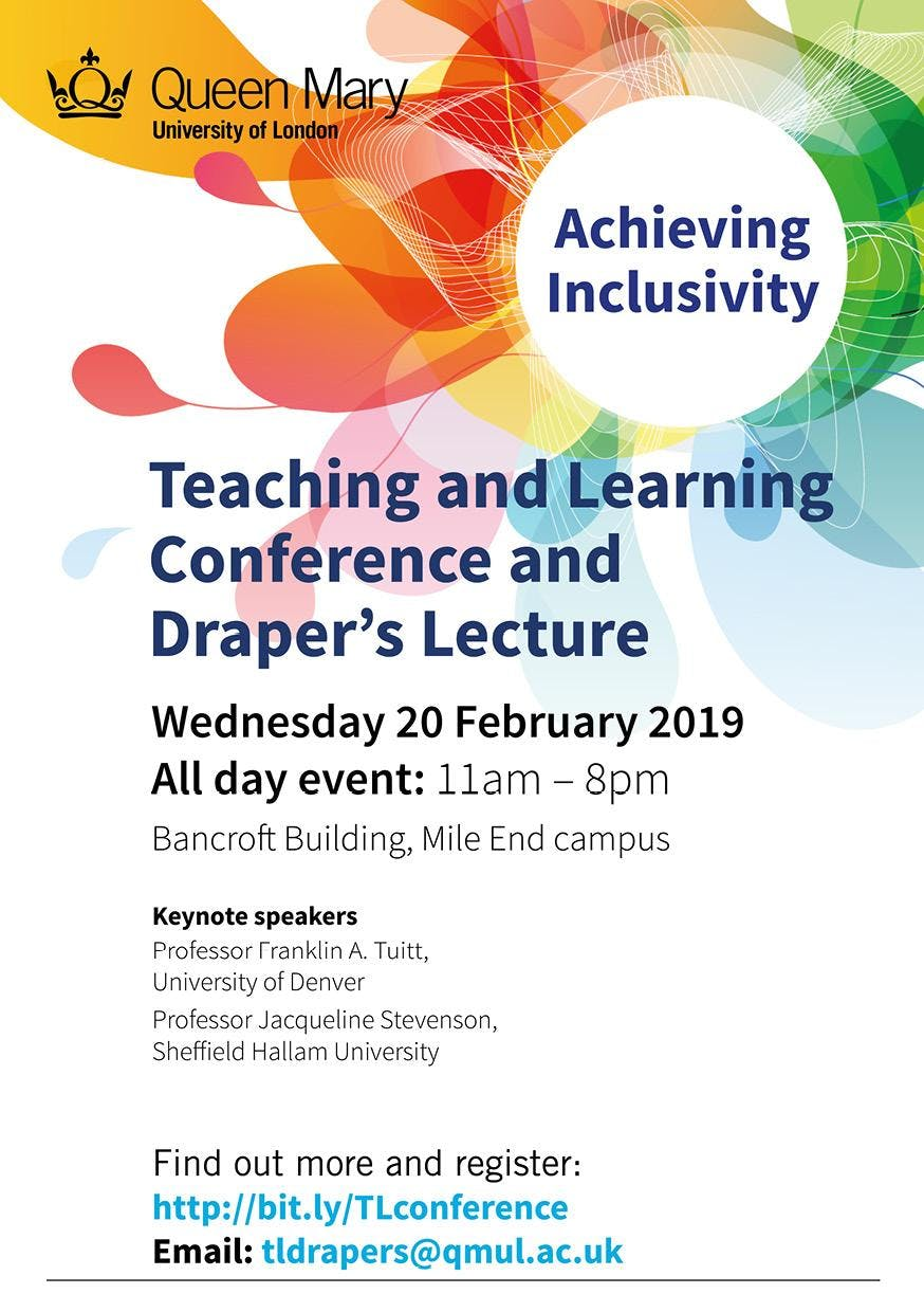Teaching and Learning Conference and Drapers' Lecture 2019