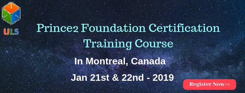 PRINCE2 Foundation Certification Training Course in Montreal, Canada.