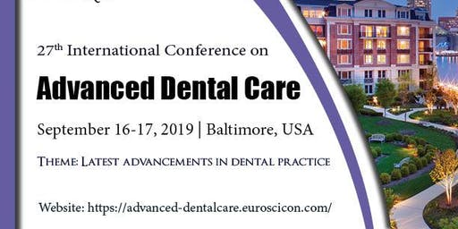 27th International Conference on Advanced Dental Care