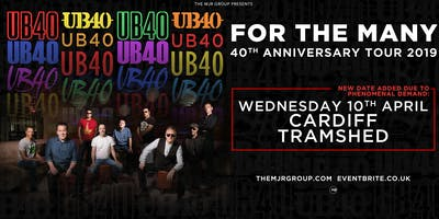 "UB40 - 40th Anniversary Tour ""For The Many"" (Tramshed, Cardiff) SECOND DATE"