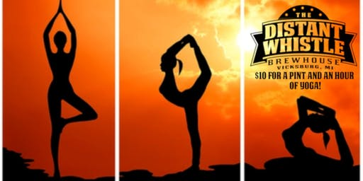 Brewga: Beer+Yoga at the Distant Whistle