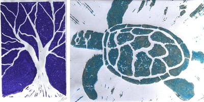 Lino Cut Printmaking Card Workshop