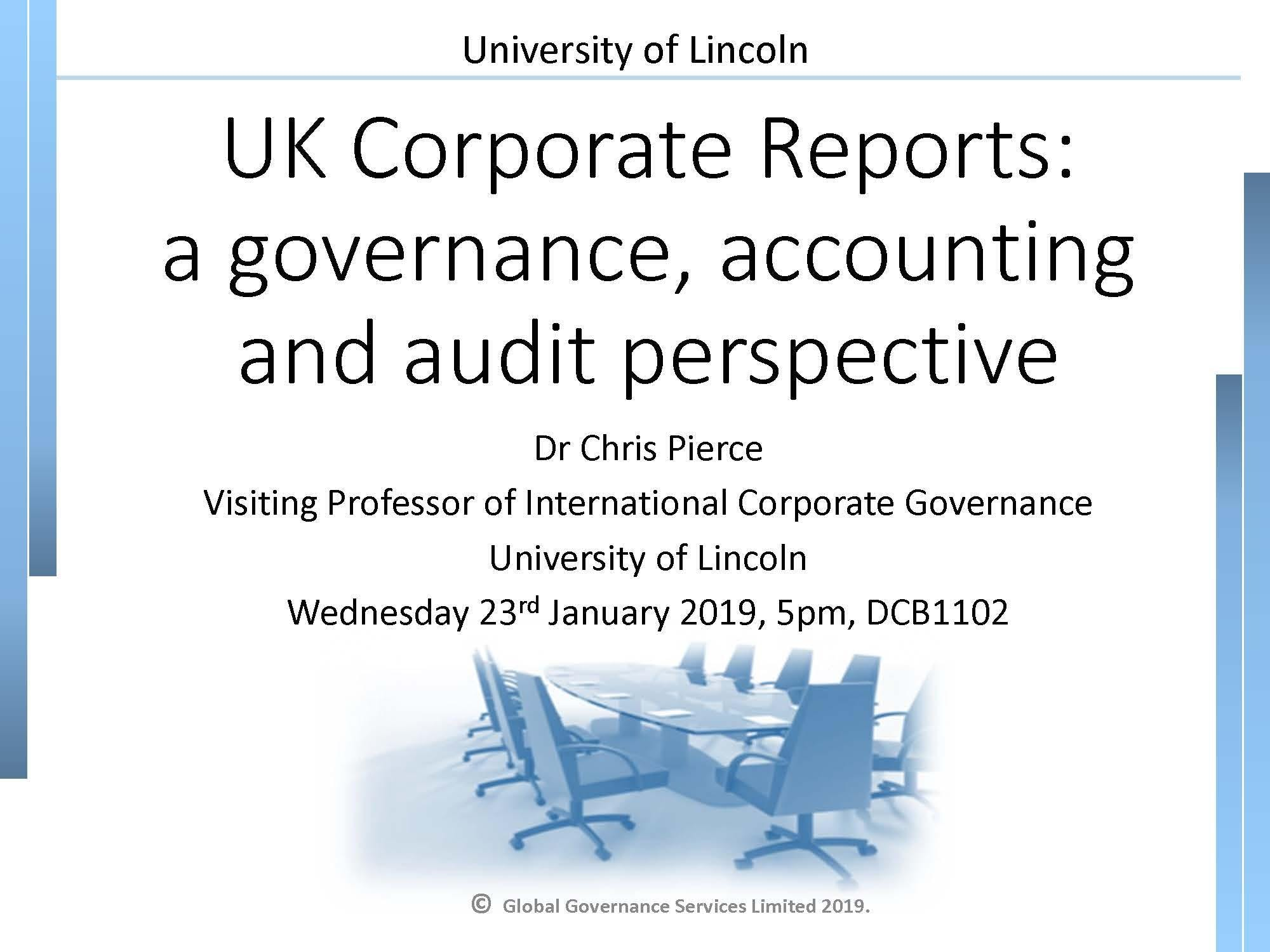 UK Corporate Reports: a governance, accountin