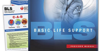 AHA BLS Renewal August 21, 2019 (INCLUDES Provider Manual E-Book!) from 2 PM to 4 PM at Saving American Hearts, Inc. 6165 Lehman Drive Suite 202 Colorado Springs, Colorado 80918.