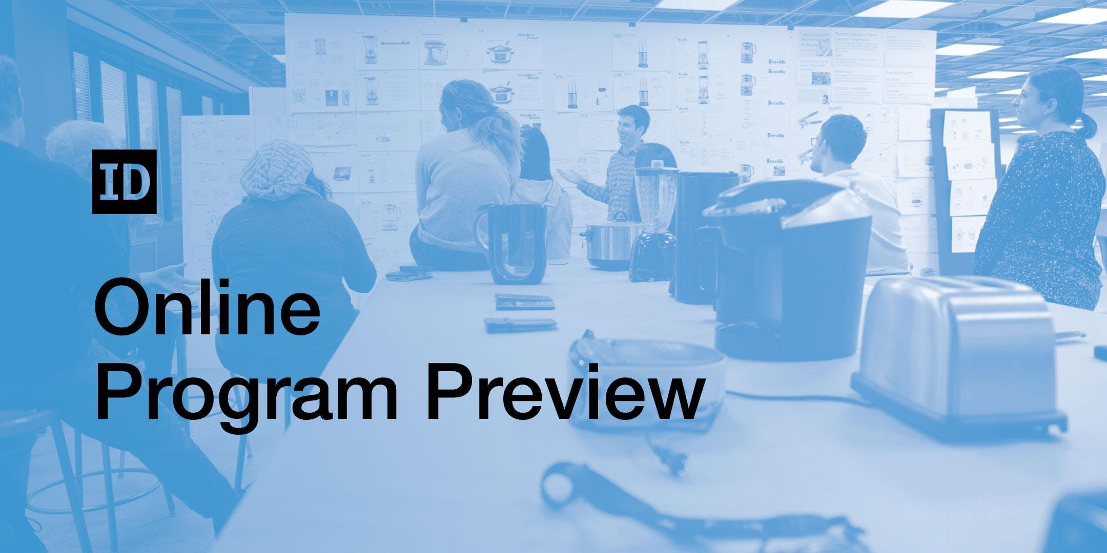 Online IIT Institute of Design Program Preview | April 26
