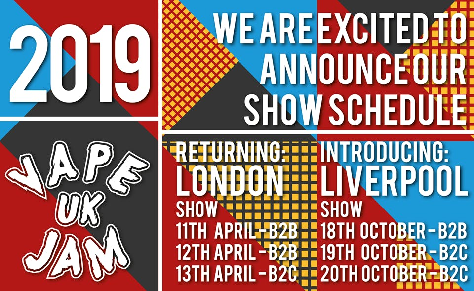 Vape Jam UK 5 2019 - London - UK's Largest Electronic Cigarette Exhibition