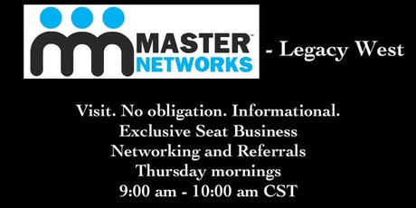 Master Networks at Legacy West tickets