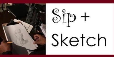 Sip & Sketch  - Portrait Drawing