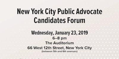 GMHC Presents: NYC Public Advocate Candidates Forum