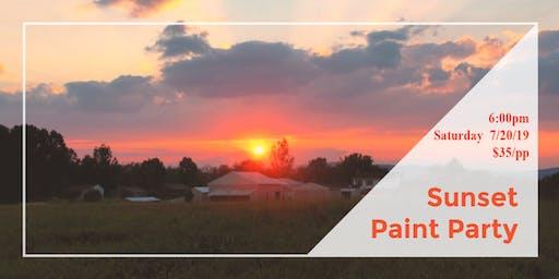 Sunset Paint Party