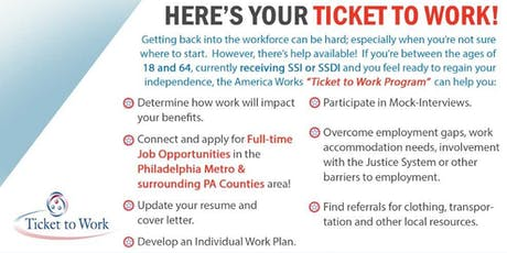 Are you receiving SSI/SSDI? Do you need a job? We can help!   tickets