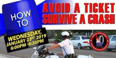 Avoid Ticket Survive Motorcycle Crash - Meridian - January