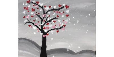 """Kids Open Paint (6yrs+) """"Heart Tree"""""""