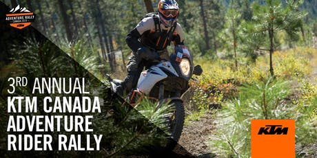 3rd Annual KTM ADVENTURE Rally Canada - Red Mountain Resort tickets