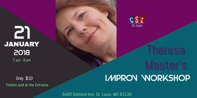 Come to Theresa Masters' Improv workshop at Pat's