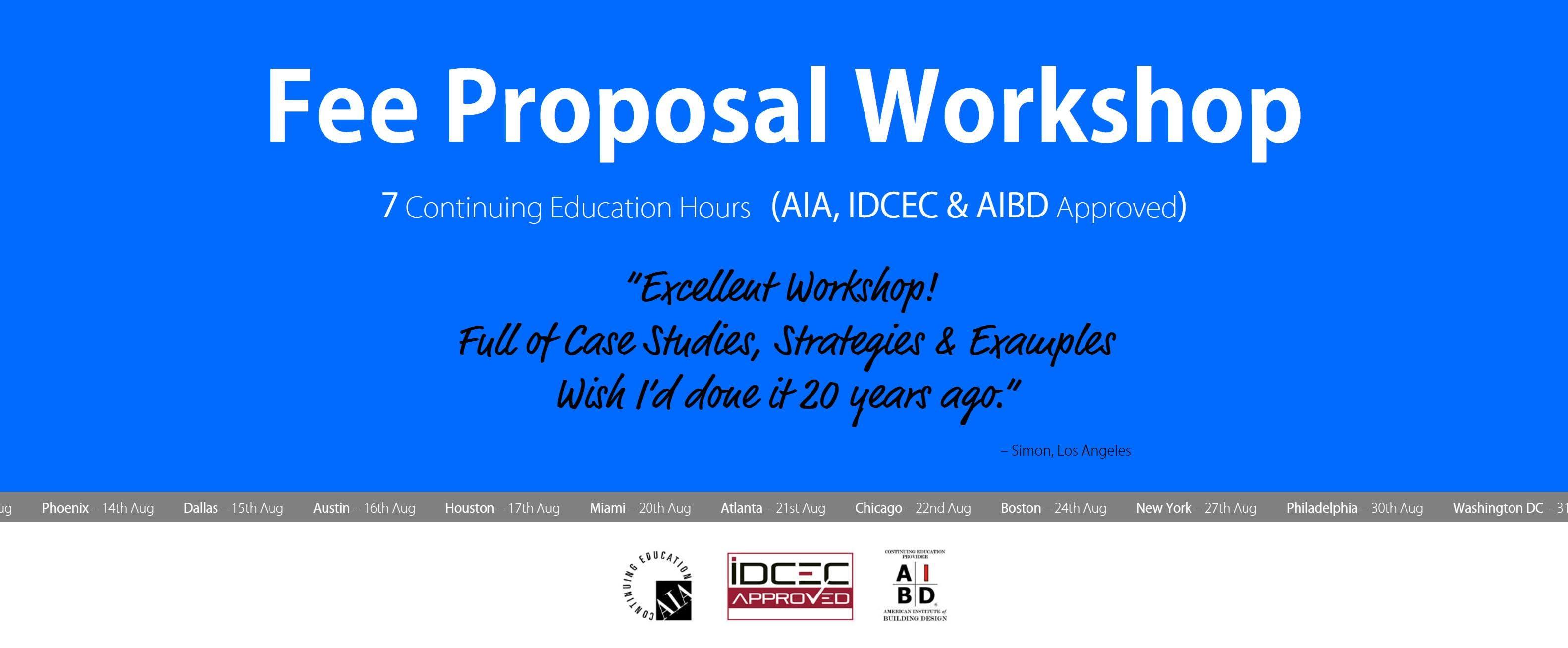 Seattle Fee Proposal Workshop