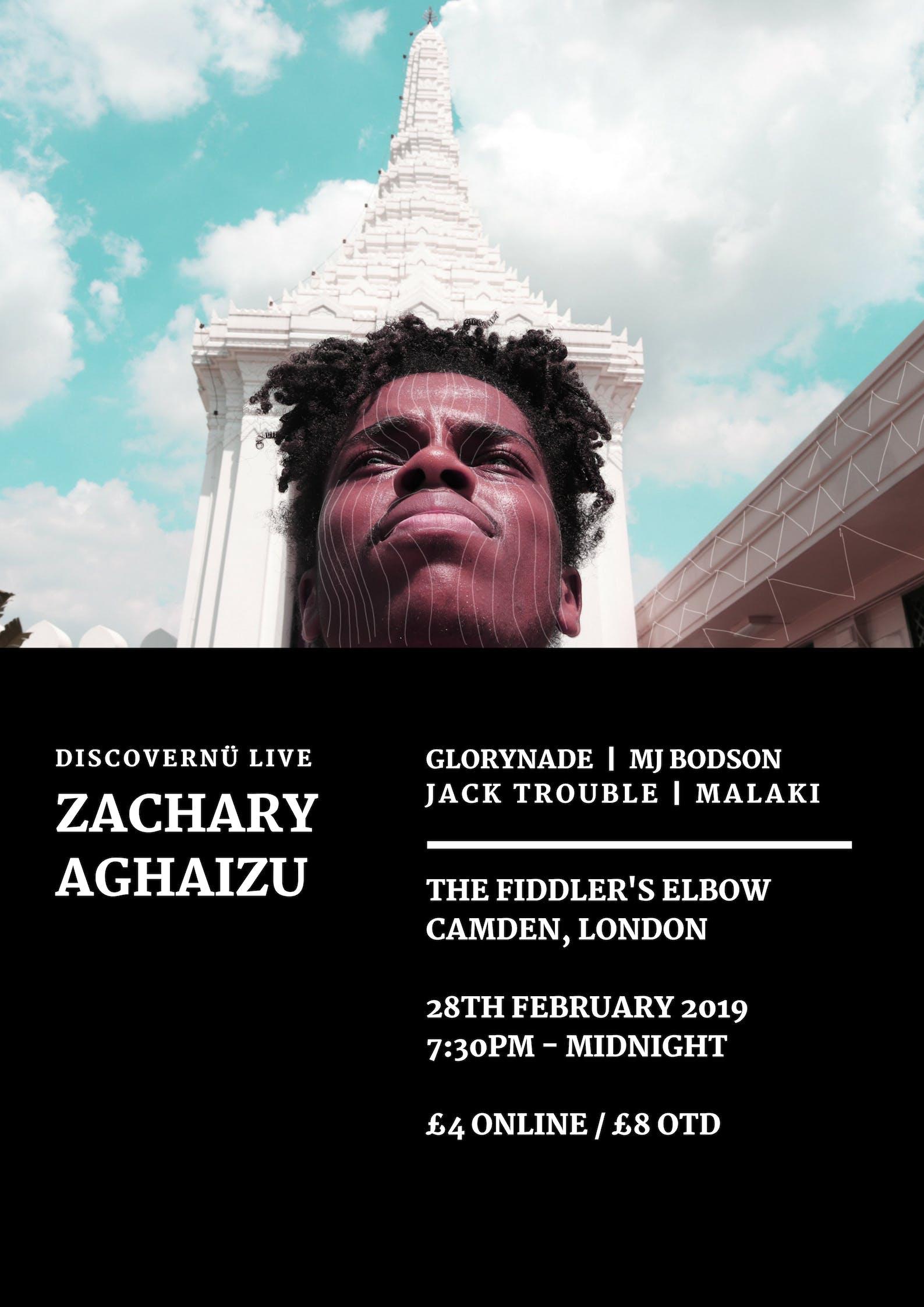 DiscoverNü Live — Zachary Aghaizu + Glorynade