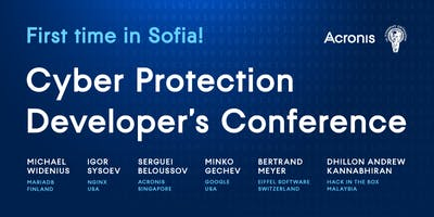 Cyber Protection Developer's Conference