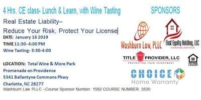 4 Hr CE class- Lunch & Learn, with Wine Tasting