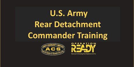 OPREADY: Rear Detachment Commander Training tickets