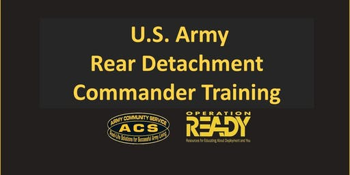 OPREADY: Rear Detachment Commander Training
