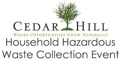 Cedar Hill HHW Collection Event September 14, 2019