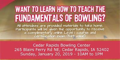 FREE USA Bowling Coach Certification Seminar - Cedar Rapids Bowling Center - Cedar Rapids, IA